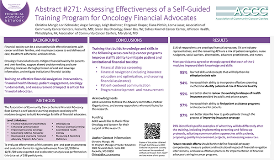 Assessing Effectiveness of a Self-Guided Training Program for Oncology Financial Advocates