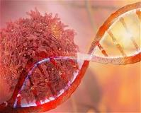 Cancer Cell and DNA Strand-cropped