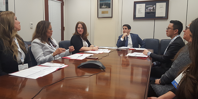 Angela DeCillis, Lani Allison, Michelle Marshall (all three from New Jersey),  Stephen Lieberman, LC to Senator Bob Menendez (New Jersey), and Mark Liu (New York)  discuss palliative care