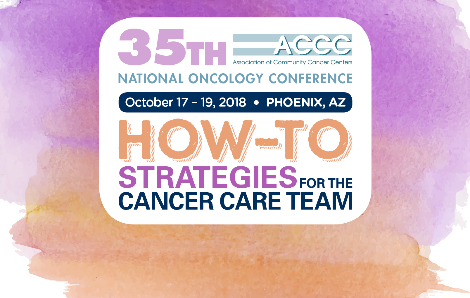 National Oncology Conference 2018