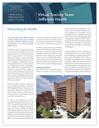 virtual toxicity team practice spotlights jefferson health thumbnail