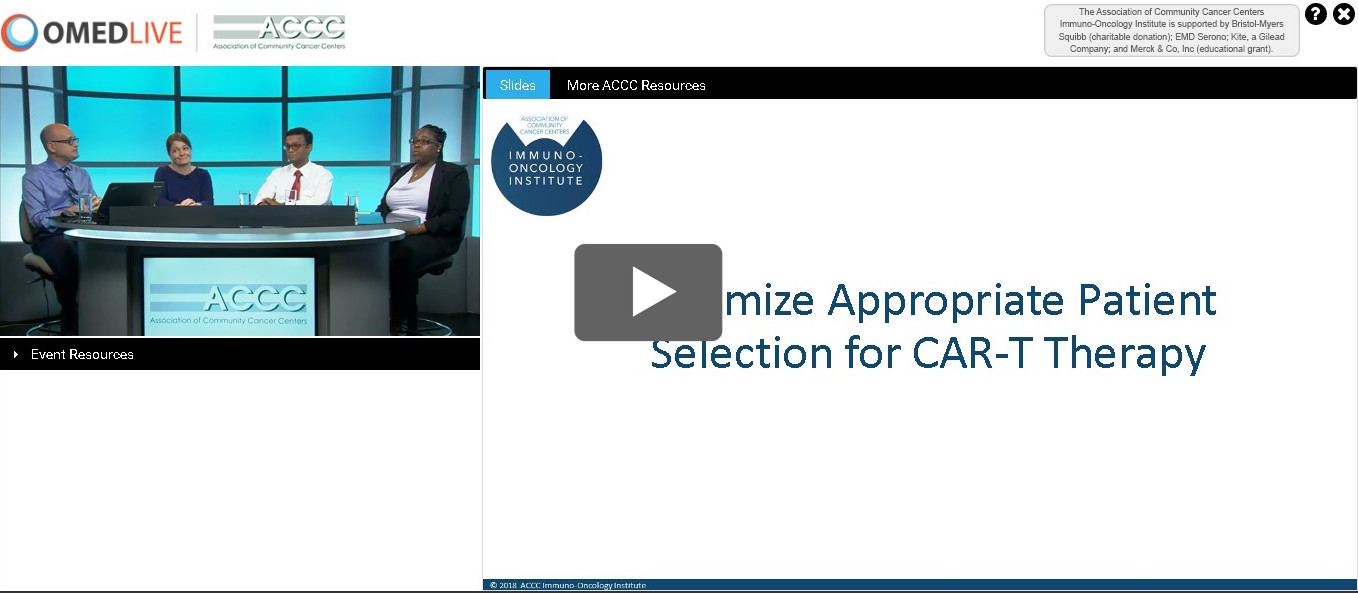 CAR-T webinar Screenshot