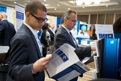 Attendees read up on some of the hottest technologies in the oncology space.