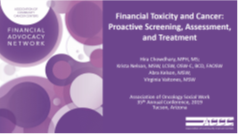 Financial Toxicity and Cancer