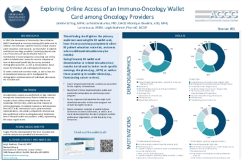 Exploring Online Access of an Immuno-Oncology Wallet Card among Oncology Providers